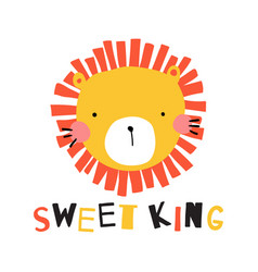 sweet king vector image