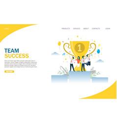 team success website landing page design vector image