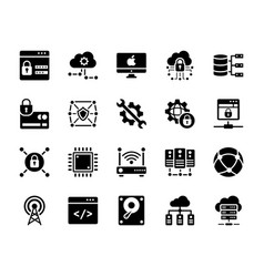 Technology icons collection vector
