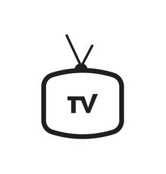 Televeision tv graphic design template isolated vector