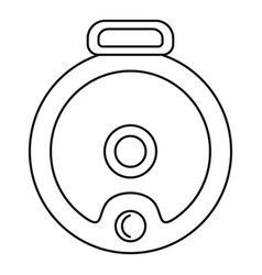 top view robot vacuum cleaner icon outline style vector image