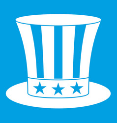 uncle sam hat icon white vector image