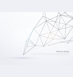 White background with polygonal lines vector