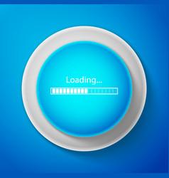 white loading icon isolated progress bar symbol vector image
