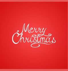 winter holiday red simple background merry vector image
