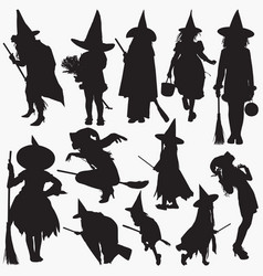 witches silhouettes vector image