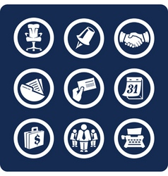 business and office icons vector image vector image