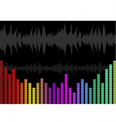 music graph vector image vector image