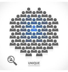 Concept of unique motivation person vector image vector image