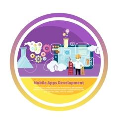 Development mobile apps vector image vector image