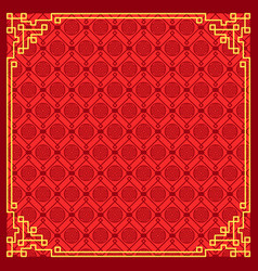 pattern on chinese new year vector image