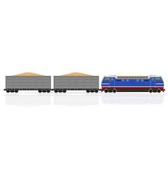 railway train 14 vector image vector image