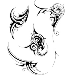 Tribal tattoo elements vector