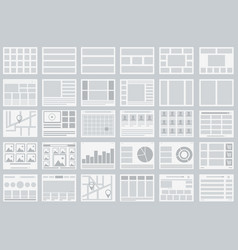 website flowcharts layouts of tabs infographics vector image