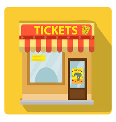 cashier building with tickets to the circus icon vector image