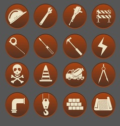 Construction Icon Set Gradient Style vector image