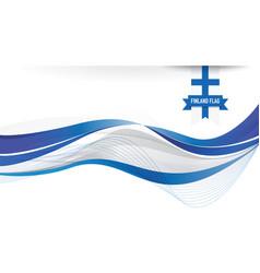 finland flag background vector image
