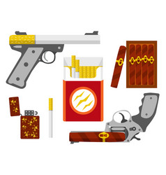 smoking kill concept flat design element vector image
