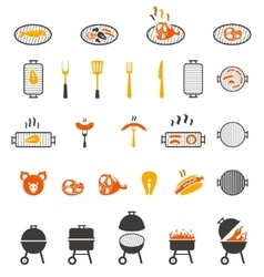 The grill icon Barbeque symbol vector image vector image