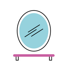 bathroom mirror and shelf with toothbrush soap vector image vector image