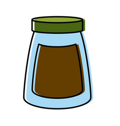coffee ground jar vector image