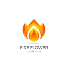 Fire flower symbol vector image