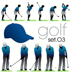 golf players poses vector image vector image