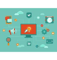 online marketing infographic vector image