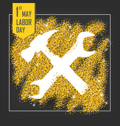 1st may - labor day vector