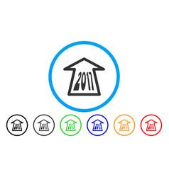 2017 ahead arrow rounded icon vector