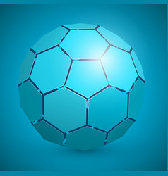 abstract soccer 3d ball blue vector image
