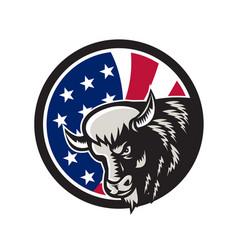 american buffalo usa flag icon vector image