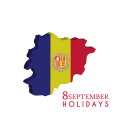 Andorra independence day 8th september template vector