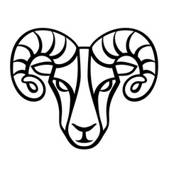 aries zodiac sign black horoscope symbol vector image