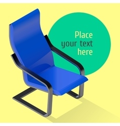 Armchair isometric Chair vector image