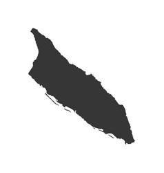 aruba map outline vector image