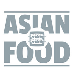 Asian food logo simple gray style vector