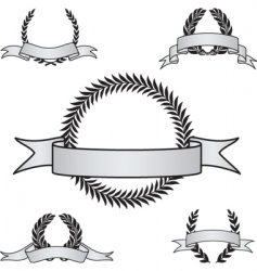 award crest set vector image