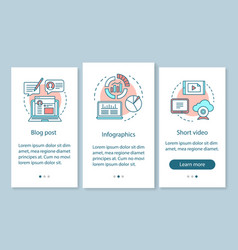awareness content onboarding mobile app page vector image