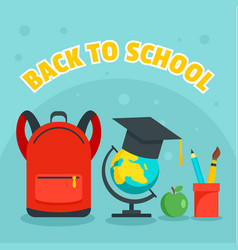 back to school kid background flat style vector image
