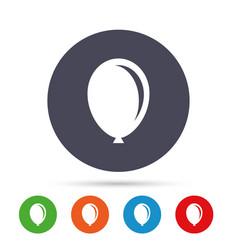 balloon sign icon birthday air balloon vector image