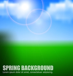 blurry background spring or summer blue sky vector image