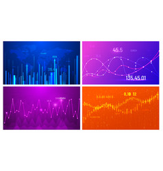 business growth chart financial trend screen vector image