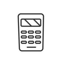 calculator finance bank money icon thick line vector image