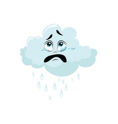 cartoon cloud with rain for a vector image