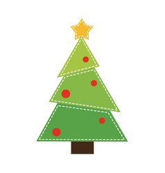 christmas cartoon isolated concept vector image