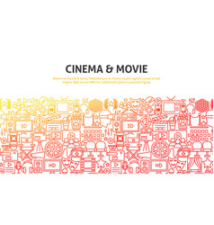 cinema and movie concept vector image