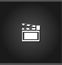 clapboard icon flat vector image