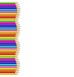 Colored pencils left side line in shape of wave vector