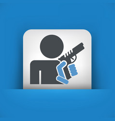concept of armed man vector image